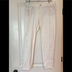 WHBM skimmer cream pants size 4